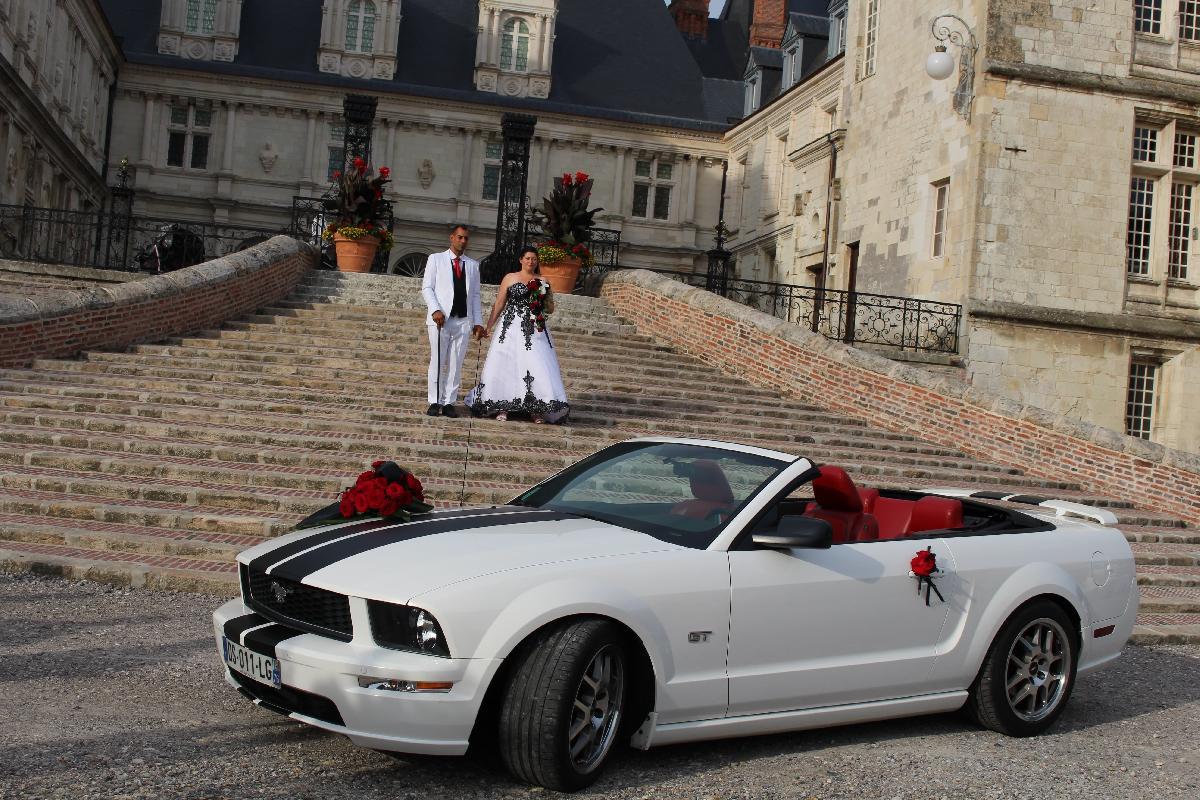 Location Ford Mustang de mariage Normandie